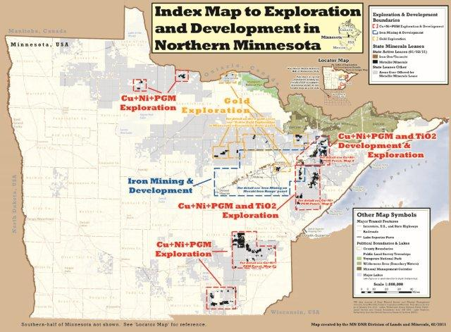 Save Our Sky Blue Waters - Us iron mines map